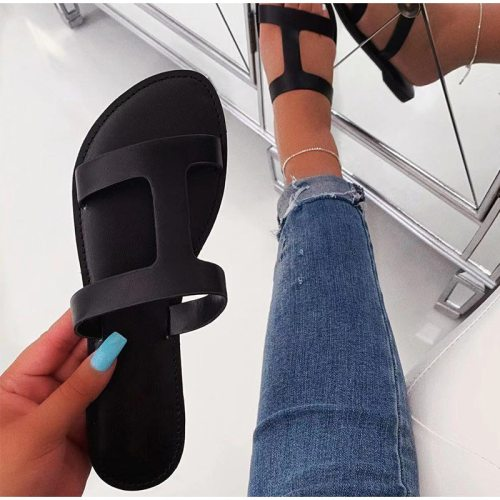 Summer Sandals Women Gladiator Slippers Ladies Beach Shoes Outdoor Crystal Slides Flats  Sandals Female Sandalia Feminina