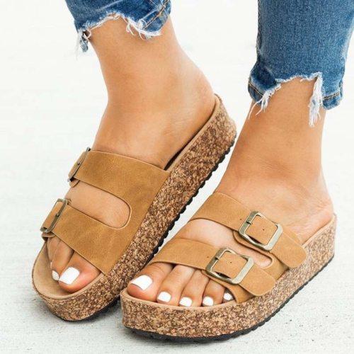 2021 Women Sandals Bohemia Retro Beach Woman Shoes Flat Ladies Summer Flats Platform Leopard Female Sandals Women's Plus Size