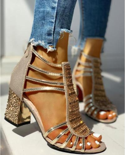 New Woman Sandals Shoes Sandalias Mujer 2020 Summer Style Wedges Pumps High Heels Slip on Bling Fashion Gladiator Shoes Women