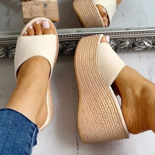 Fashion 2021 New Summer Women's Sandals Peep-Toe Shoes Woman High-Heeled Platfroms Casual Wedges For Women High Heels Shoes
