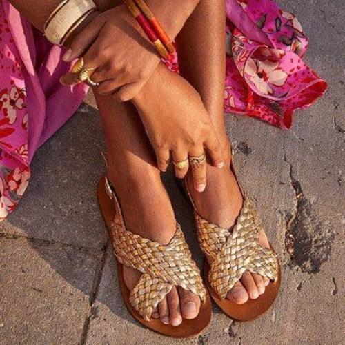 2021 Woman Sandals Retro Summer Flat shoes Sandals Female Casual Sewing Women Shoes Comfortable Ladies Sandalias Plus Size