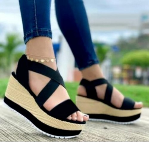 Wedges Fabric Women Party Fashion Low Heels Sandals Pumps Sandalias Mujer Sapato Feminino Plus Size Sexy Shoes Woman