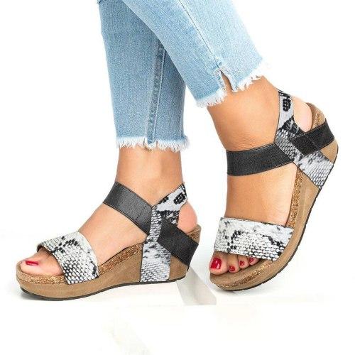 Gladiator Sandals Platform Women Wedges Shoes Snake Sandals Leather Platform Shoes Roman Sandals Sandalias Sandalia Feminina