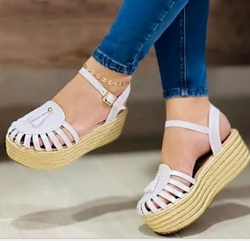 Wedges Fabric Women Party Fashion High Heels Sandals Pumps Sandalias Mujer Sapato Feminino Plus Size Sexy Shoes Woman
