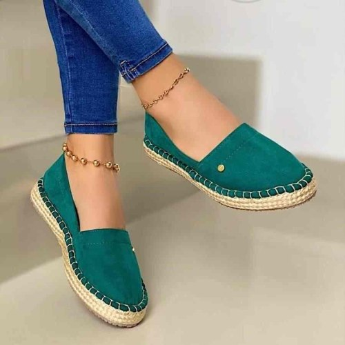 Women Flats Shoes Casual Flat Soft Slip On Loafers Sewing Solid Women Driving Shoes Fashion Women Flats Footwear Plus Size 36-43