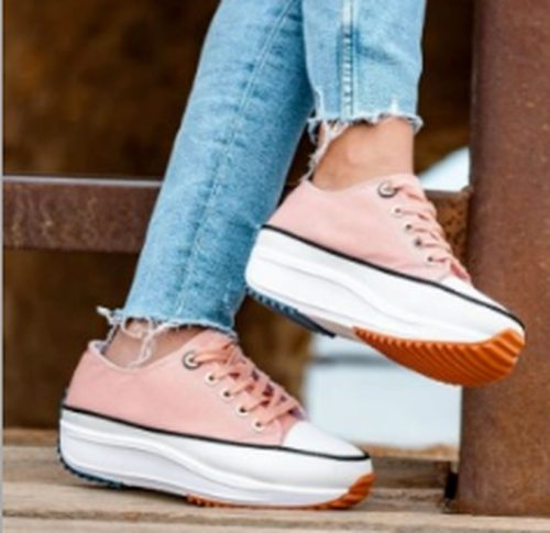 Canvas Mid Flats Hiking Shoe Casual Shoes Woman Light Fabric Women Plus Size Chaussures