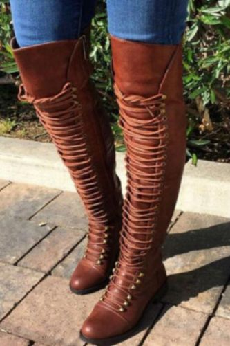 New Women Walking Shoes Thigh High Boots Female High Boots Over The Knee Boots Sneakers Stylish Ladies Long Boot Big Size 34-46
