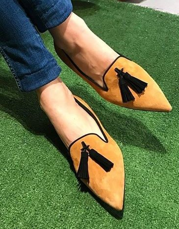 Low Sandals Woman Leather Female Shoe Low-heeled Girls Fashion Velvet Beige Comfort Back Strap Solid Rubber Flock Casual Fabric