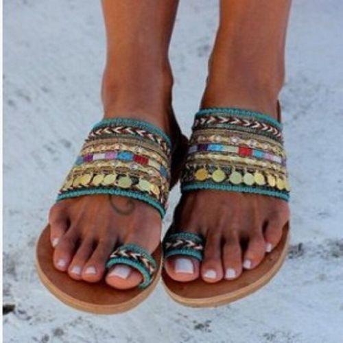 Women Artisanal Sandals Flip-Flops Handmade Greek Style Boho Flip Flop Sandals Streetwear Fashion Shoes Women Chaussures Femme