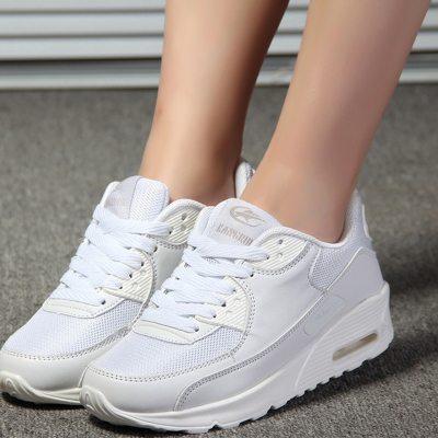 Autumn Sneakers Women Vulcanized Shoes Platform Ladies White Red Breathable Flat Lace Up Female Men Basket Femme Plus Size 44