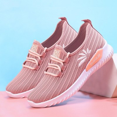 Spring Vulcanized Women Shoes Casual Sneakers Light Breathable Female Fashion Lace Up Woman Flats Summer Running Walking Shoes