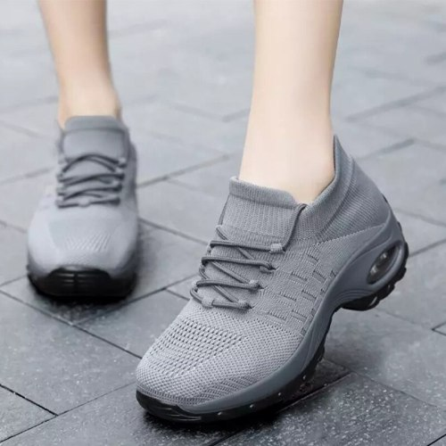 Breathable Sneakers Air Cushion Platform Women's Vulcanized Shoes Spring Ladies 2021 Fashion Female Light Casual Running Shoes