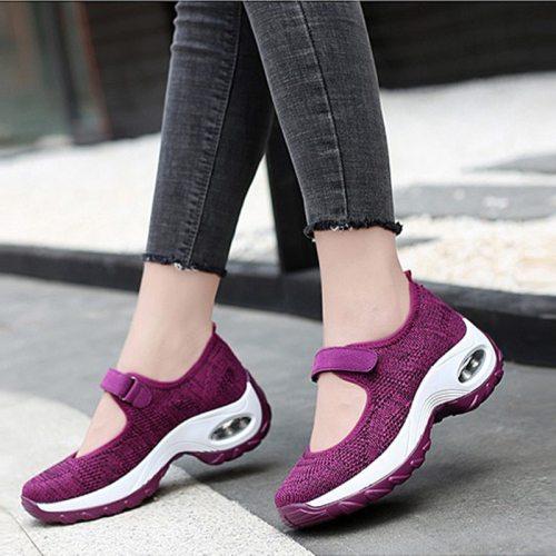 Hook Loop Sneakers Women Air Cushion Casual Shoes Platform Ladies Female Vulcanized Shoes Woman Summer Spring Footwear 2021 New