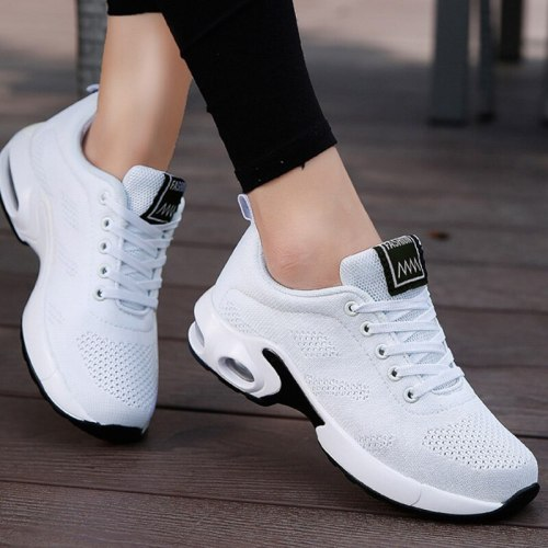 Sneakers Women Lace Up Light Breathable Ladies Flat Shoes Casual Vulcanized Shoes Spring 2021 Female Mesh Running Shoes Footwear