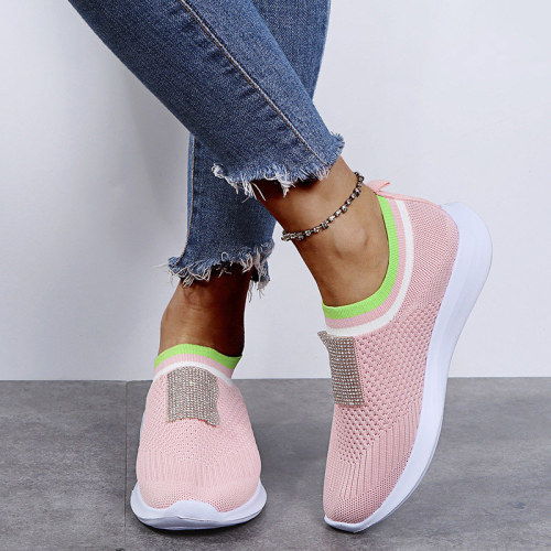 Women's Vulcanized Shoes Casual Mesh Breathable Ladies Sneakers Running Shoes Female Spring Summer Comfortable Footwear 2021 New