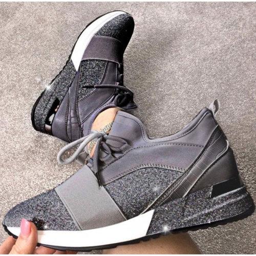 Women Sneakers Snakeskin Print Casual Running Shoes Spring Ladies Flat Platform Shoes Fashion 2021 Comfortable Female Footwear