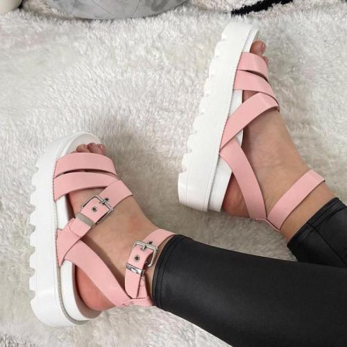 Big Size Summer Sandals Women 2021 Platform Female Thick Heel Peep Toe Ytmtloy Wedges Buckle Strap Sadalias Femininas
