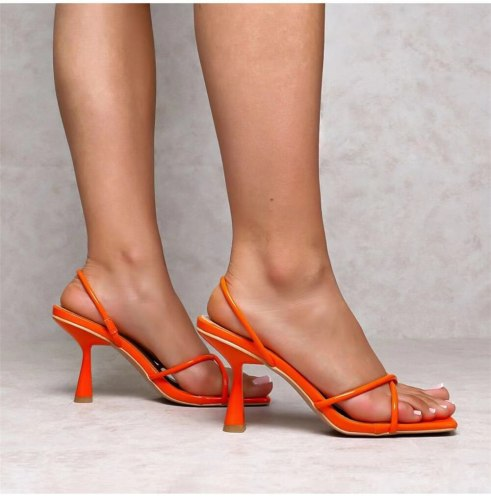 Lapolaka Female Pump Heels Square Toe Slip-On Med Heel Summer Sexy Party Sexy Club Summer Woman Mules Shoes Sandals Big Size 42
