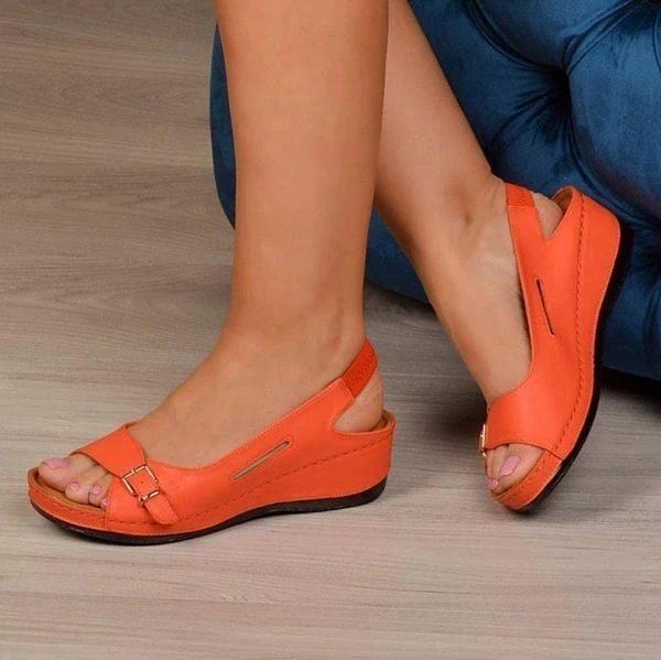 Gladiator Sandalias mujer 2021 Female Wedge Heels Shoes Women Summer Comfortable Sandals Slip-on Flat Sandals Platform Sandalias