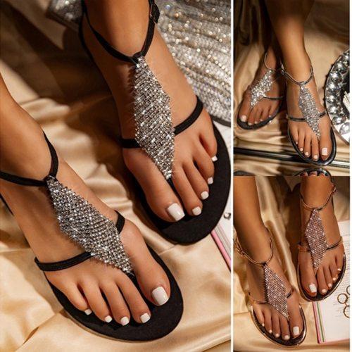 Women Sandals Flip Flops 2021 Summer Flat Shoes Woman Bohemian Sandals Ladies Vacation Beach Sandales Femme
