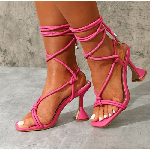 Women Summer Ankle Strap Sandals Ladies Thin High Heels Party Dress Shoes Female Fashion Sexy Sandal Woman Square Toe Shoe 2021