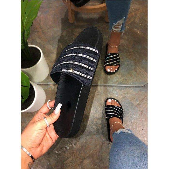 BUSY GIRL AL8058 Thick bottom rhinestone decorative soft bottom slippers,ladies fancy slippers,fashion slippers,
