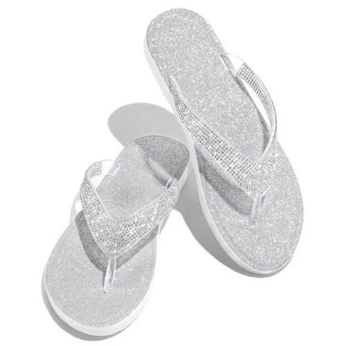 Women Flip Flop Slippers Slides Bling Rhinestone Ladies Shoes Casual Summer Flat Female Crystal Glitter Woman Plus Size 2021
