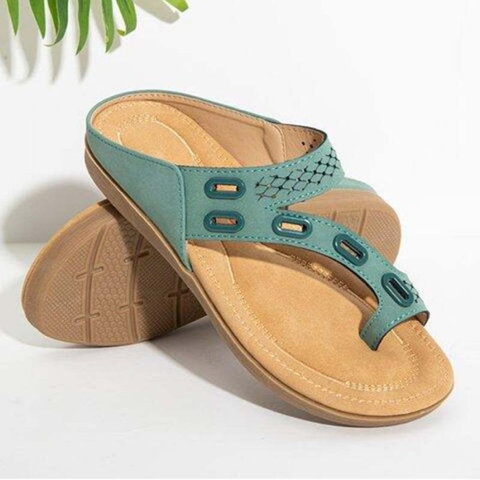 Women Sandals Premium Orthopedic Women'S Shoes Flat Slipper Vintage Anti-Slip Sandals Women Flip Flops Ladies Shoes Plus Size 43