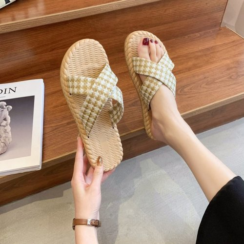New Women Slippers Summer Casual Flat Heel Open Toe Beach Sand Holiday Shoes Female Flats Women Shoes Summer Zapatos Retro Mujer