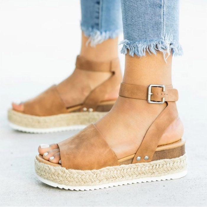 Wedges Shoes for Women High Heels Sandals Summer Shoes 2021 Flip Flop Chaussures Femme Platform Sandals Plus Size 35-43