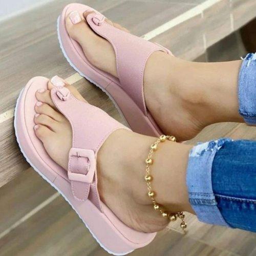 Sandal Woman Summer 2021 Casual Beach Slippers Platform Slippers Female Large Size Flat Sandals Comfort Flats Leopard Sandals