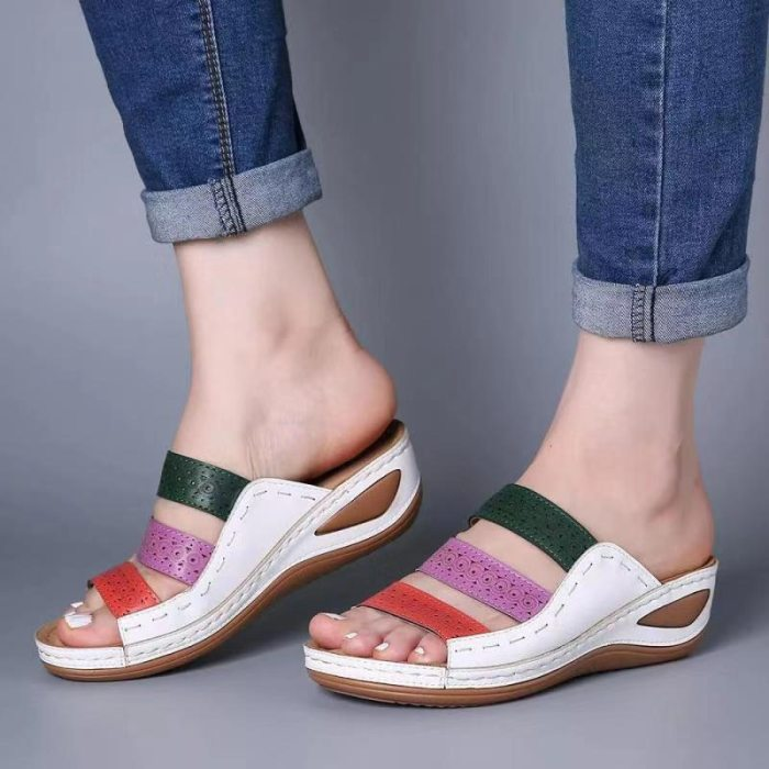 Women Sandals 2020 Fashion Wedges Shoes For Women Slippers Summer Shoes With Heels Sandals Flip Flops Women Beach Casual Shoes
