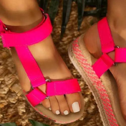 2021 Women Sandals Platform Summer Shoes Woman Peep-toe Comfortable Sandals Slip-on Flat Casual Shoes Female Sandalias