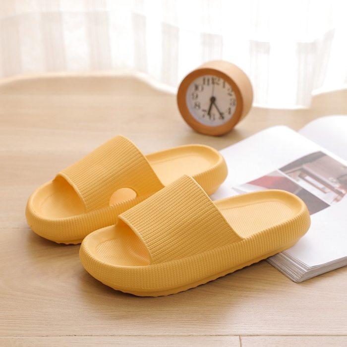 Home Soft Slippers Ladies/men's Thick Bottom Slipper Women Indoor Bathroom Anti-slip Floor Slides Deodorant Silent Slippers