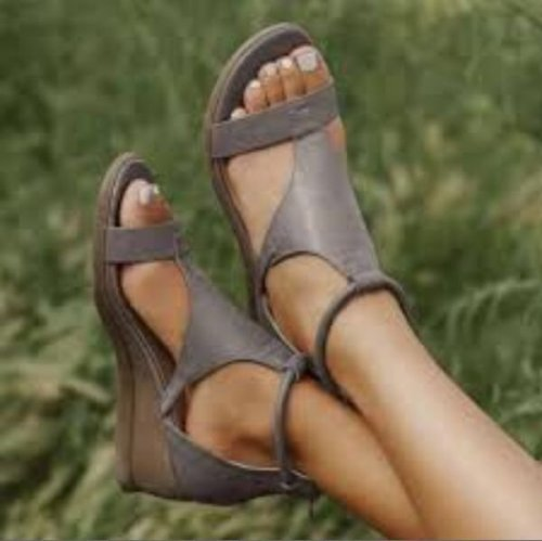 Sandals Foreign Trade Large Size Roman Style 2021 New Versatile Heightened Temperament Wedge Women's Shoes Open Toe Wholesale