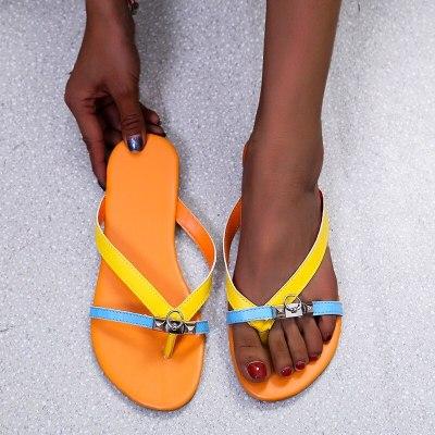 Fashion Women Slippers New Comfortable Women's Flip Flops Casual Shoes Beach Flats Leather Summer Female Shoes Tenis Feminino