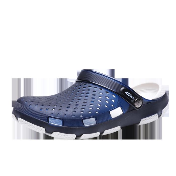 2021 New Comfortable Men Pool Sandals Summer Outdoor Beach Shoes Men Slip On Garden Clogs Casual Water Shower Slippers Flip Flop