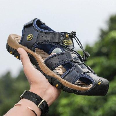 2021 New Men Summer Sandals Comfortable Casual Shoes Plus-sized Flats High Quality Beach Sandals Men Sandalias Hombre