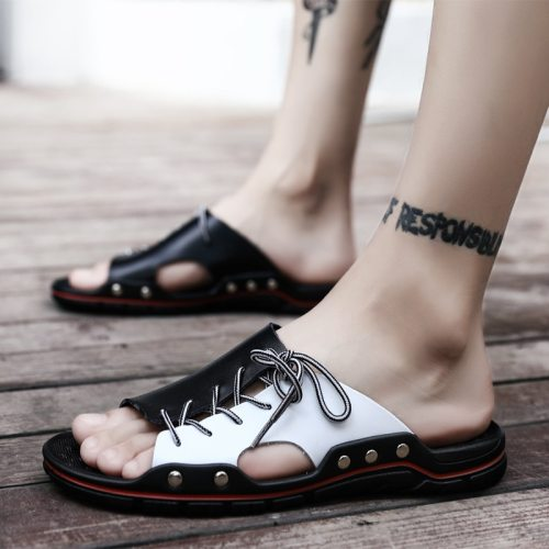 Nine o'clock Summer Men Slippers Light Comfortable Outside Anti-skid Shoes Stylish Wear-resisting Male Casual Sandals Big Size