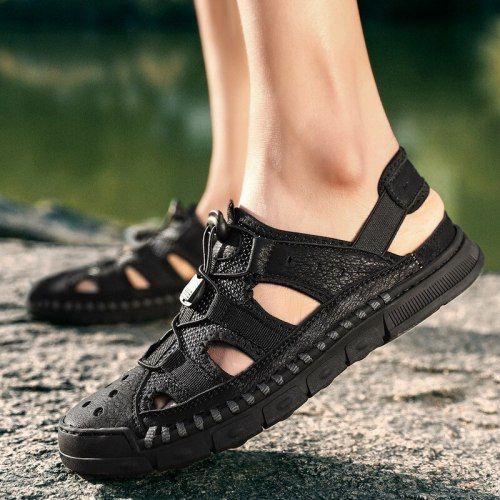 Male Shoes Genuine Leather Men Sandals Summer Men Shoes Beach Fashion Outdoor Casual Non-slip Sneakers Footwear 899