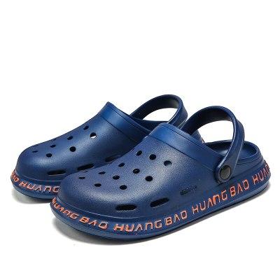 Sandals Men Clogs Slippers Soft Bottom Beach Sandals Men Clog Sandals Comfortable Breathable Ankle-Wrap EVA Plus Size