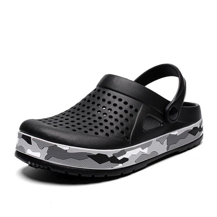 Hole Shoes Male Men Sandals New Clogs Beach Sandals Hombre Sandles Mens Summer Sandals Hollow Men Slippers Sandalia Masculina