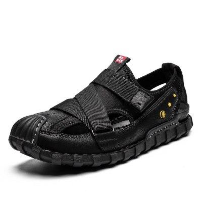 Hot Sale Sandal Shoes Men Leather Breathable Sandles Men's Summer Male Shoes Zapatillas Hombre Chaussure Homme Size 44 Promotion