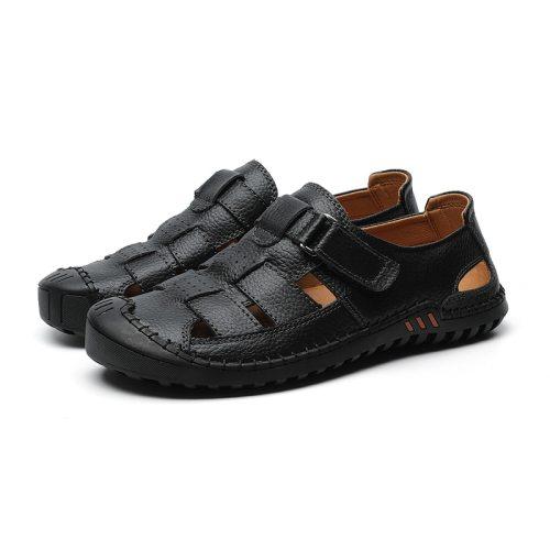 cuero big man sandalen sandalsslippers homme 2021  herren shoes beach outdoor vietnam leather romanas heren safety roman men for