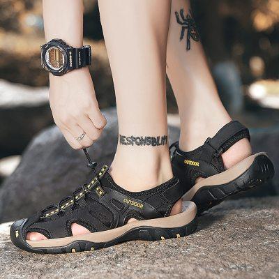 2021 summer men's breathable casual shoes sandals men's hollow light sports wind men's sandals beach shoes