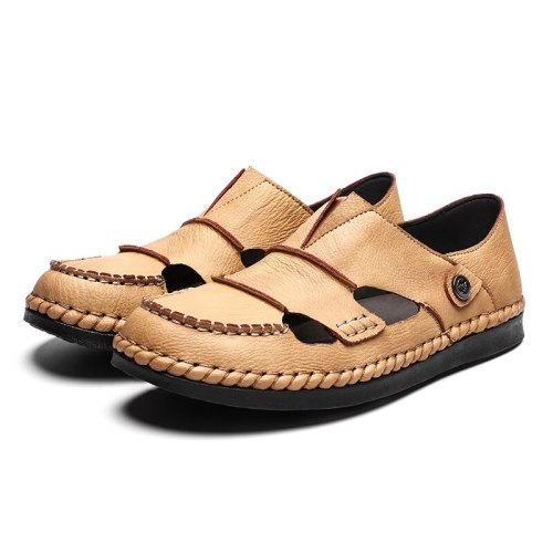 Men's Casual Roman Style Sandals Summer Comfortable Moccasin Fashionable loafers Rubber Bottom and Light Weight Shoes