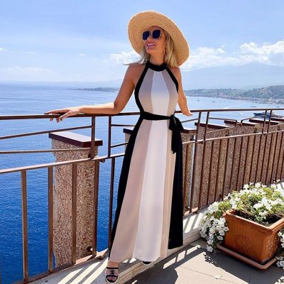 Beach Outings For Women 2021 Women's Tunic Swimsuit Cape Swimwear Cover Up New Fall Ladies Dress Sexy Long Sleeveless Neck Spell
