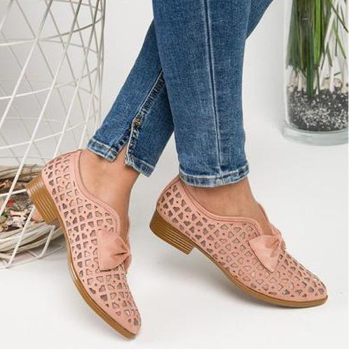 2021 New Fashion Bowtie Pointed Toe Women Flats Spring Shoes for Woman Platform Slip on Loafers Leather Drop Shipping 43