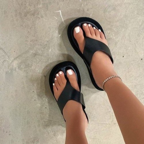 2021 Women Flip Flop Platform Slippers Female Round Toe Summer Beach Slides Ladies Outside Classic Casual New Shoes Big Size
