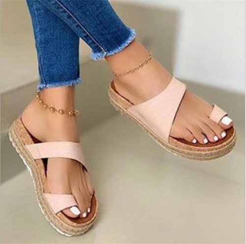 Summer Women's Sandals Flip-Flops 2021 British Fashion Trend Cork Slippers Men's Flip-Flops Women's Shoes Outdoor Slippers Trend